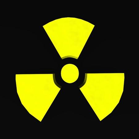 nuke: 3d render of radiation symbol