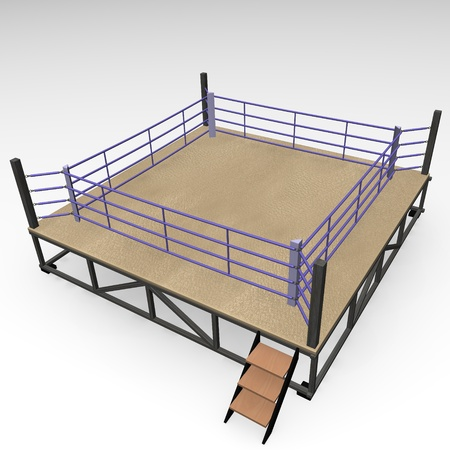 3d render of boxing ring photo