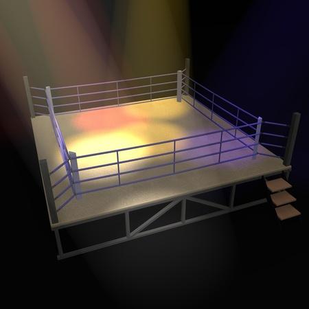 ボクシングのリングの 3 d レンダリング 写真素材