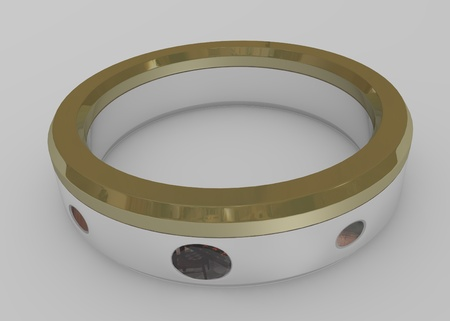 3d render of small ring  photo