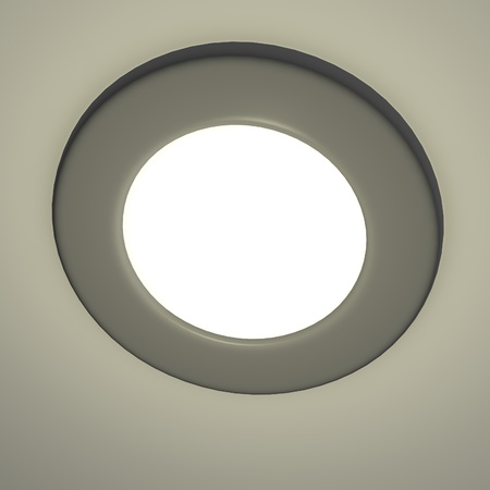 recessed: 3d render of recessed light