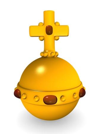 sceptre: 3d render of royal apple
