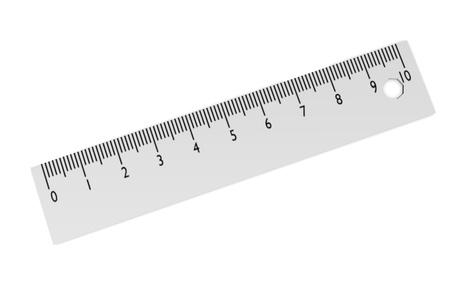 3d render of ruler (measurer)