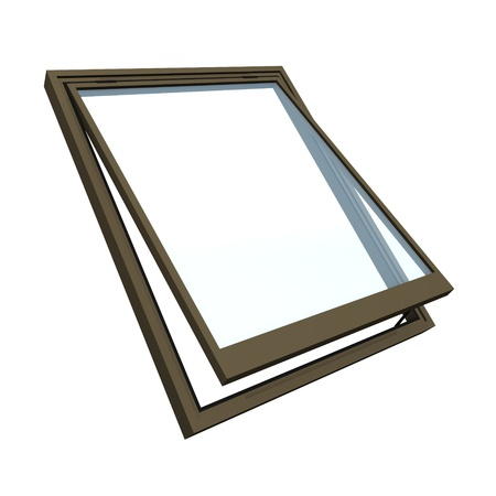 skylight: 3d render of roof window