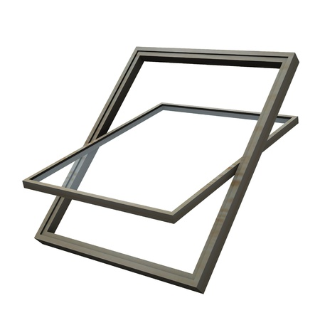 dormer: 3d render of roof window