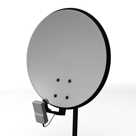 sattelite: 3d render of satellite antenna