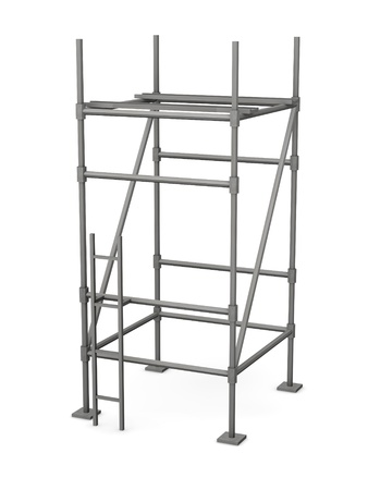 falsework: 3d render of construction scaffold