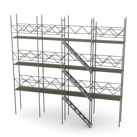3d render of construction scaffold photo