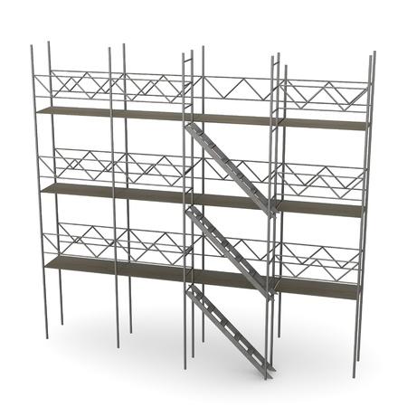 Rendu 3d de la construction d'échafaudages Banque d'images - 12986445