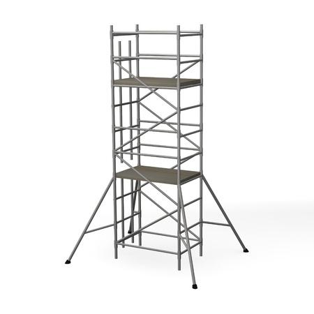 andamio: 3d hacer de la construcción de andamios Foto de archivo