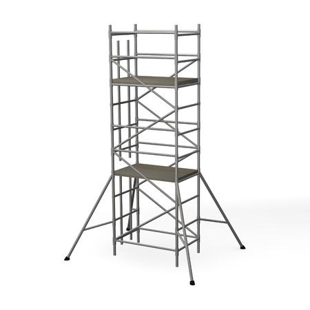 scaffold: 3d render of construction scaffold