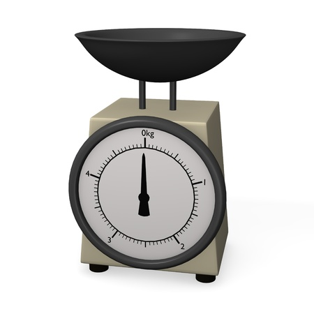 3d render of kitchen scale photo