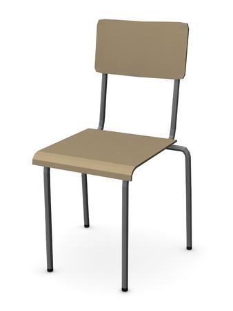 3d render of school chair