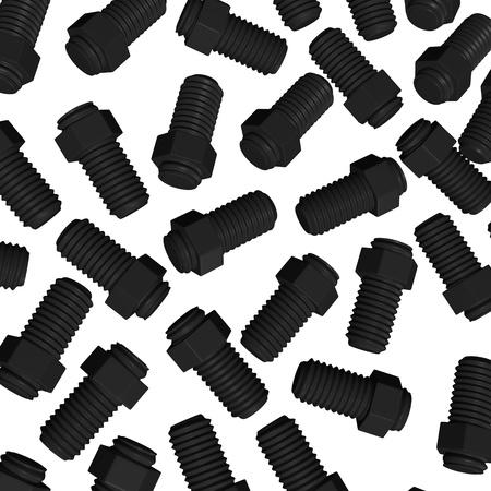 winder: 3d render of metal screw