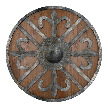 3d render of war shield  Stock Photo