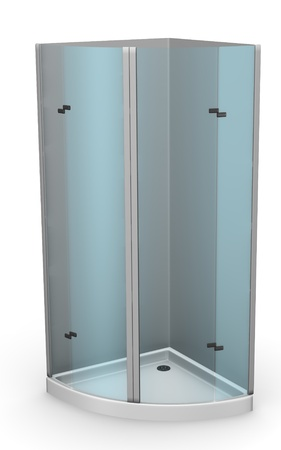 3d render of shower (bathroom) photo
