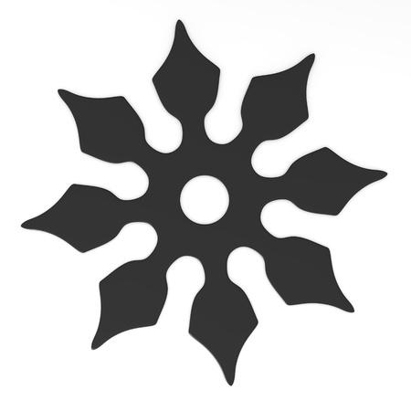 shuriken: 3d render of shuriken (weapon)