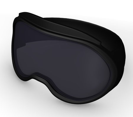 ski wear: 3d render of ski glasses