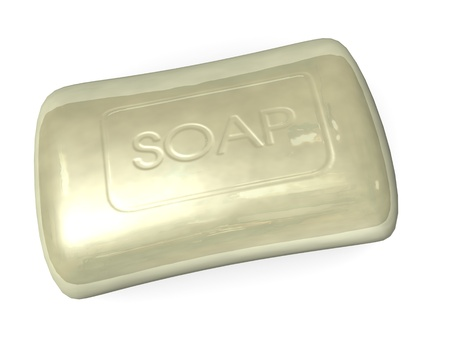 wash basin: 3d render of soap (washing) Stock Photo