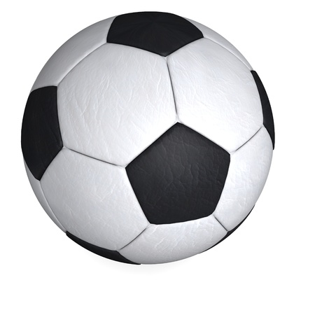 soccerball: 3d render of soccer ball Stock Photo
