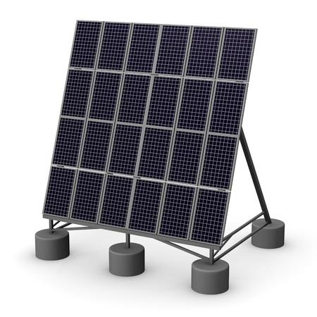 pv: 3d render of solar panel