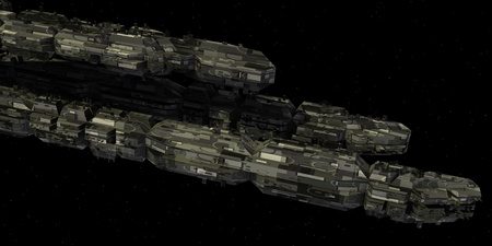 starship: 3d render of spaceship with original design