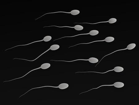 apparato riproduttore: 3D rendering di spermatozoi umani