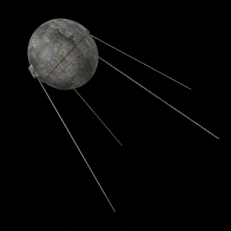 sputnik: 3d render of sputnik space tool Stock Photo