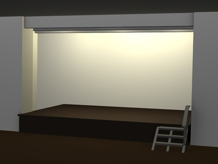 staging: 3d render of stage (podium) Stock Photo