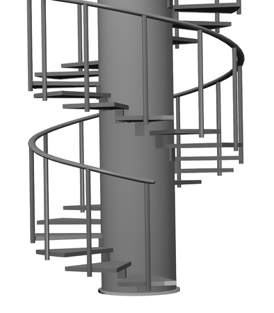 handrail: 3d render of modern stairs  Stock Photo