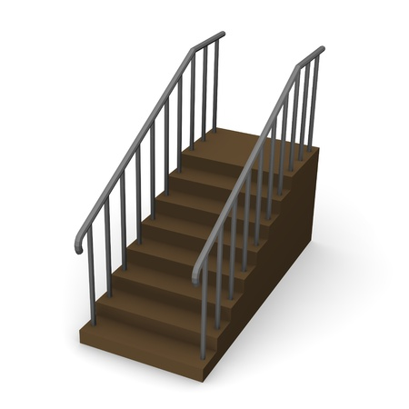 3d render of modern stairs  photo