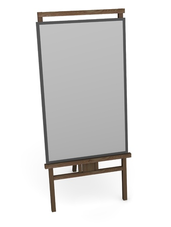 swab: 3d render of painting stand Stock Photo