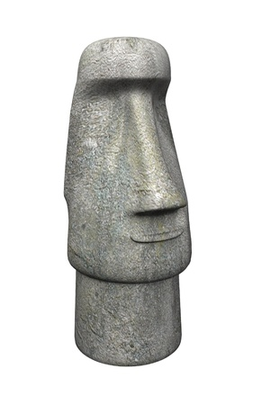 civilisations: 3d render of easter island statue