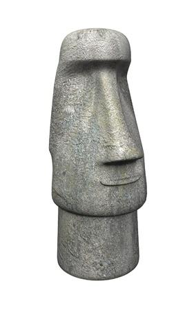 civilisations: 3d render of easter island statue