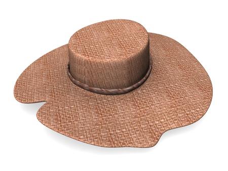 straw hat: 3d render of straw hat  Stock Photo