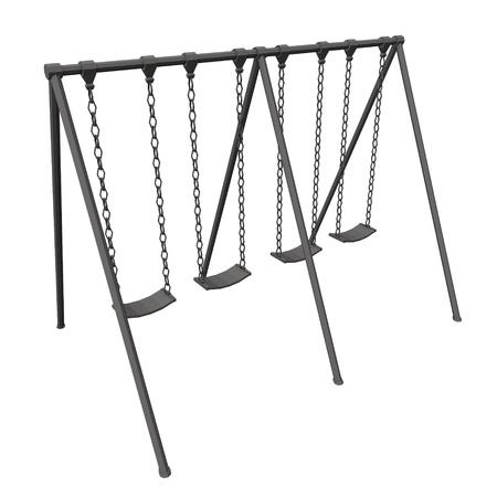 3d render of playground swing Stock Photo - 12985388