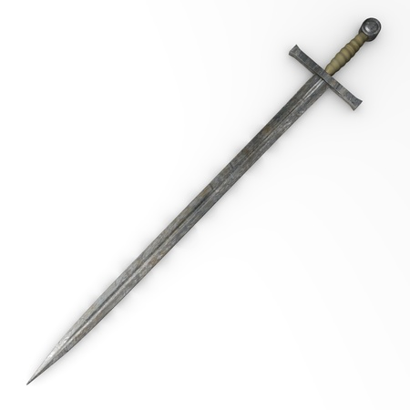 medieval sword: 3d render of old sword