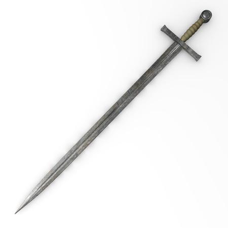 3d render of old sword