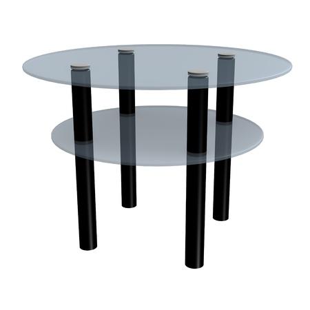 vizualisation: 3d render of modern table  Stock Photo
