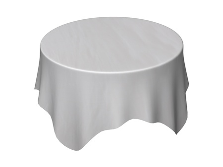 cafe table: 3d render of table cloth