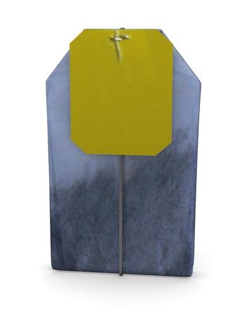 ceylon: 3d render of tea bag
