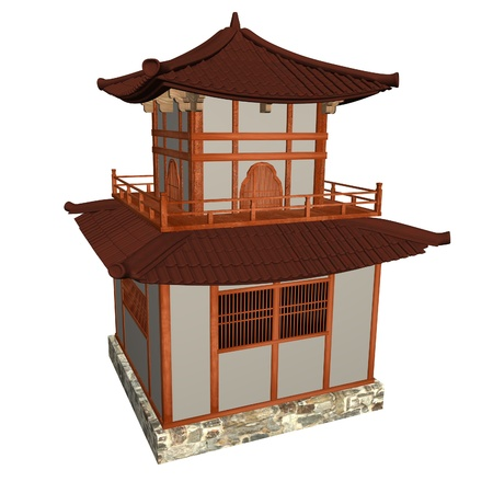chinese temple: 3d render of chinese temple