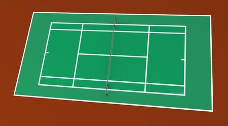 3d render of tennis court
