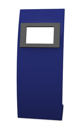 3d render of terminal with touch screen  Stock Photo