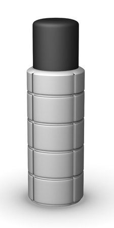 3d render of thermo bottle