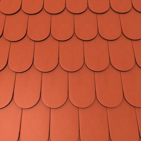 3D-Darstellung von Dachziegeln Standard-Bild - 12985387