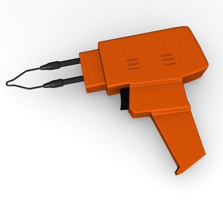 solder: 3d render of tin solder