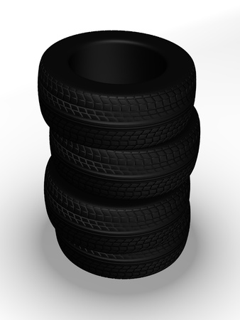 pneu: 3d render of car tires