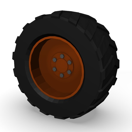 3d render of car tire photo