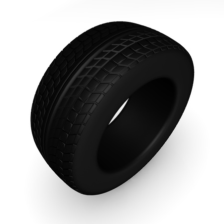 pneu: 3d render of car tire